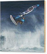 Beauty Of Windsurfing Maui 1 Wood Print