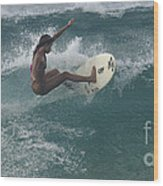 Beauty On A Surf Board Wood Print