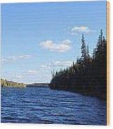 Beauty On The Lake Wood Print