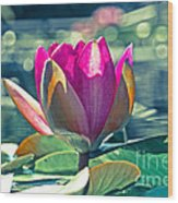 Beauty On The Water Wood Print