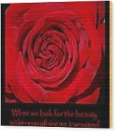 Beauty Red Rose Wood Print