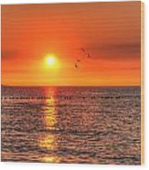Beauty Sunset Wood Print
