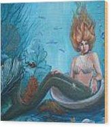 Beauty Under The Sea Wood Print