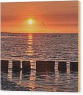 Beautyful Sunset Wood Print