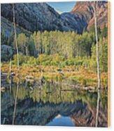 Beaver Lake Sierra Nevada Mountains Wood Print