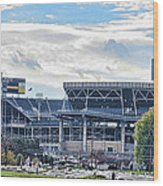 Beaver Stadium Game Day Wood Print