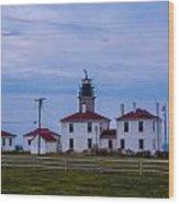 Beavertail Lighthouse. Wood Print