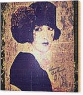 Bebe Daniels - 1920s Actress Wood Print by Absinthe Art By Michelle LeAnn Scott