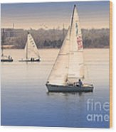 Becalmed Wood Print