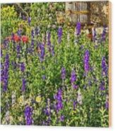 Becker Vineyards' Flower Garden Wood Print