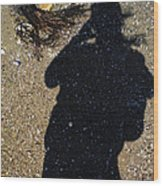 Becoming One With The Beach Stones Wood Print