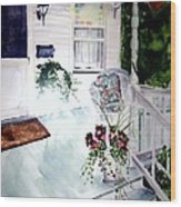 Bed And Breakfast Wood Print