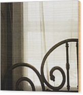 Bed By The Window Wood Print