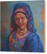 Bedouin Woman Wood Print