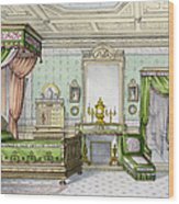 Bedroom In The Renaissance Style Wood Print