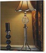 Bedroom Lamp Wood Print
