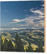 Panoramic View Of The Foothills Wood Print
