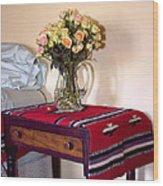 Bedside Desert Roses Palm Springs Wood Print
