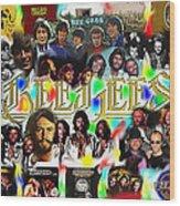 Bee Gees History Montage Wood Print