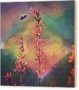 Bee N Wildflowers Diamond Earth Tones Wood Print