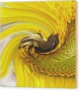 Bee Twirl Wood Print