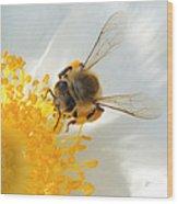 Bee-u-tiful Squared Wood Print