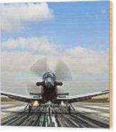 Beechcraft T-6a Texan II -  Wood Print
