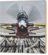 Beechcraft T-6a Texan II D Wood Print