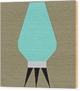 Beehive Lamp Turquoise Wood Print