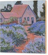 Beekman Lavender Field Wood Print