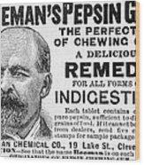 Beemans Pepsin Gum, 1895 Wood Print