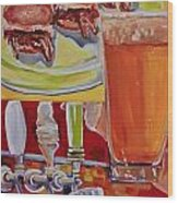 Beer And Pork Sliders Wood Print