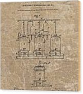 Beer Brewery Patent Illustration Wood Print