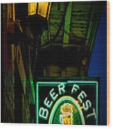 Beer Fest And Lamp Wood Print