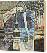Beer On Tap Wood Print