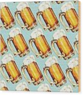Beer Pattern Wood Print