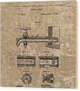Beer Tap Patent Wood Print