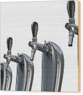Beer Tap Row Isolated Wood Print
