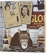 Beerbohm, The Theatre Cat Oil & Tempera On Panel Wood Print