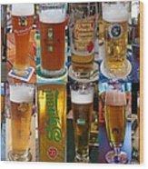 Beers Of Europe Wood Print