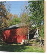 Beeson Covered Bridge 1 Wood Print by Mel Steinhauer
