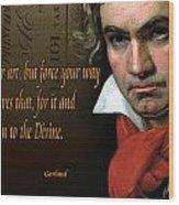 Beethoven  Wood Print