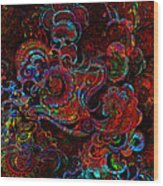 Beethoven's Swirl Dancing Wood Print