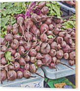Beets At The Farmers Market Wood Print
