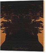 Befogged Head Lights Wood Print
