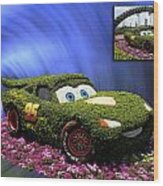 Before And After Sample Art 29 Floral Lightning Mcqueen Wood Print by Thomas Woolworth