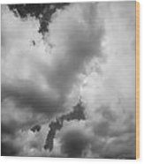 Before The Storm Clouds Stratocumulus 5 Bw  Wood Print