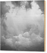 Before The Storm Clouds Stratocumulus Bw 7 Wood Print