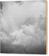 Before The Storm Clouds Stratocumulus Bw 8 Wood Print