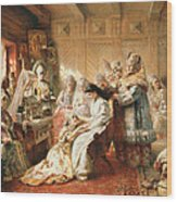 Before The Wedding, 1890 Oil On Canvas Wood Print